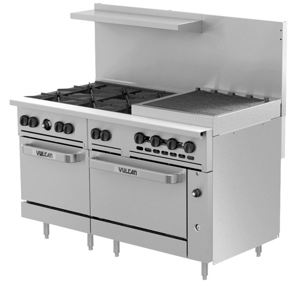 C60 Challenger XL Range with 24 inch Charbroiler