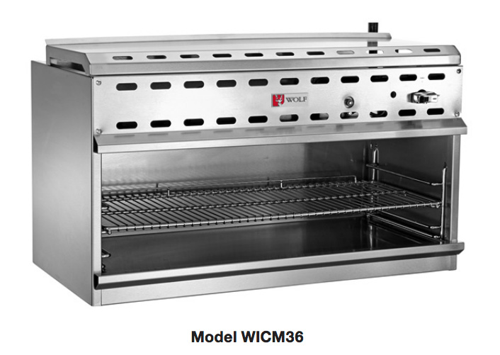Wolf Range WICM series 36 inch Infrared Cheese Melter
